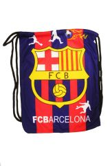 "FC BARCELONA LOGO SOCCER DRAWSTRING KNAPSACK BAG ..SIZE : 14"" X 8"" INCHES .. NEW AND IN A PACKAGE"