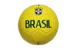 BRASIL Yellow 5 Stars CBF LOGO FIFA WORLD CUP SOCCER BALL SIZE 5