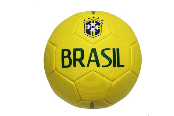 BRASIL Yellow 5 Stars CBF LOGO FIFA WORLD CUP SOCCER BALL SIZE 5