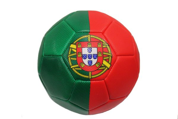 PORTUGAL Red - Green Country Flag SOCCER BALL ..Size 5