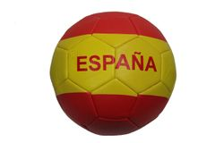 ESPANA SPAIN Red - Yellow Country Flag SOCCER BALL ..Size 5