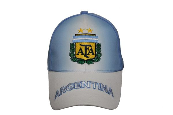 ARGENTINA Blue - White , 2 STARS AFA Logo FIFA WORLD CUP EMBROIDERED HAT CAP