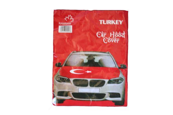 TURKEY Country Flag CAR HOOD COVER
