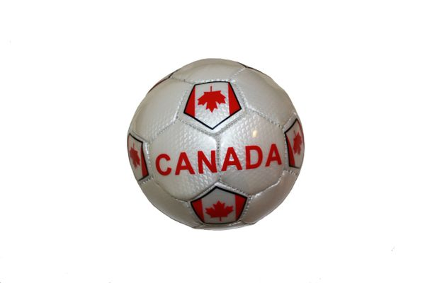 CANADA WHITE COUNTRY FLAG FIFA WORLD CUP SOCCER BALL SIZE 2 .. NEW AND IN A PACKAGE