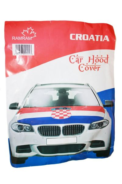 CROATIA Country Flag CAR HOOD COVER