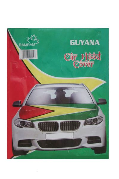GUYANA Country Flag CAR HOOD COVER