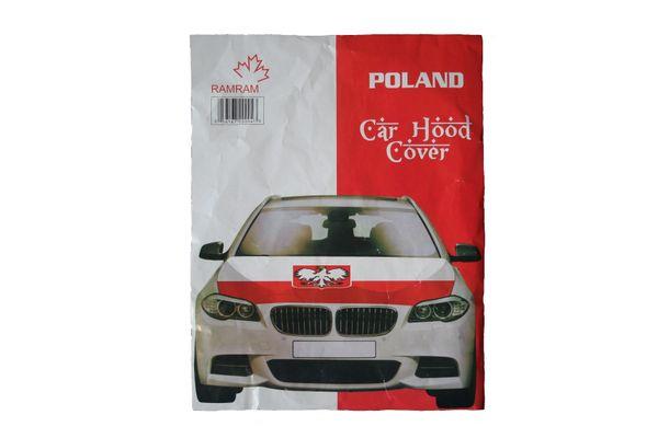 POLAND Country Flag CAR HOOD COVER
