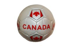 CANADA WHITE COUNTRY FLAG FIFA WORLD CUP SOCCER BALL SIZE 5 .. NEW AND IN A PACKAGE