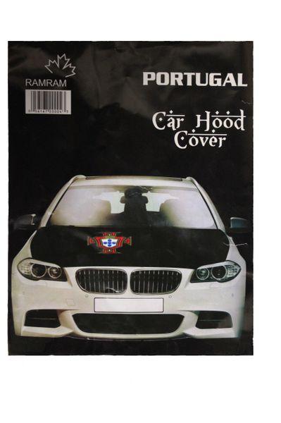 PORTUGAL Black FPF Logo FIFA World Cup CAR HOOD COVER