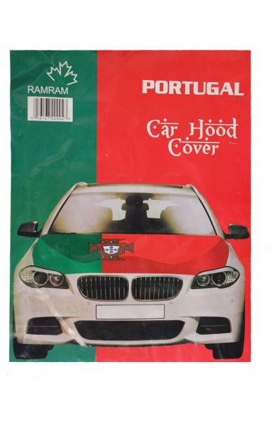 PORTUGAL Green - Red FPF Logo FIFA World Cup CAR HOOD COVER