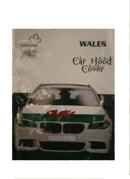 WALES Country Flag CAR HOOD COVER