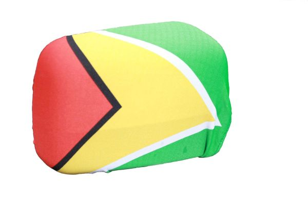 GUYANA Country Flag CAR MIRROR COVER