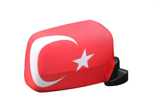 TURKEY Country Flag CAR MIRROR COVER