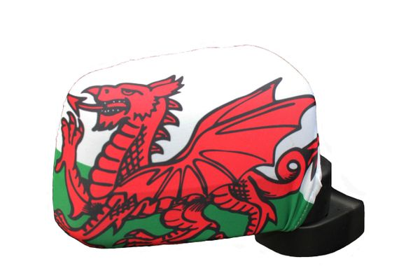 WALES Country Flag CAR MIRROR COVER