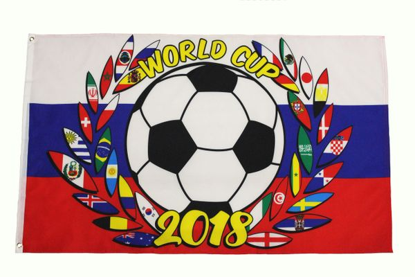 FIFA World Cup 2018 , RUSSIA COUNTRY Flag Large 3' x 5' Feet Flag Banner