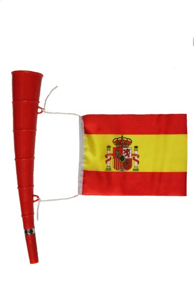 SPAIN - Country Flag , Red HORN Toy