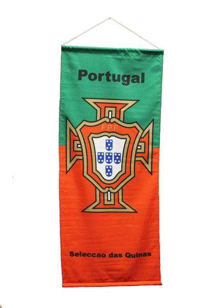 "PORTUGAL Seleccao das Quinas Country Flag , FPF Logo FIFA World Cup 20"" x 48"" Inch Banner"