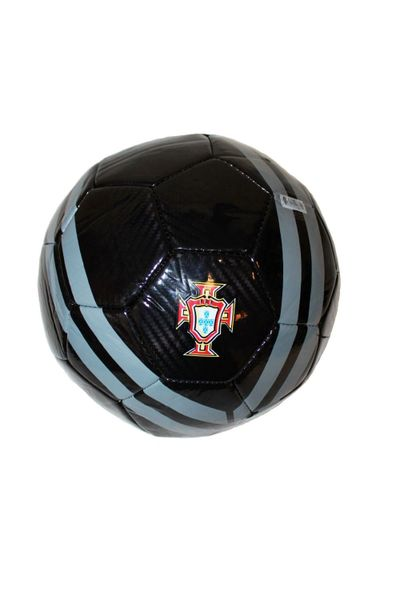PORTUGAL BLACK WITH GREY STRIPES FIFA WORLD CUP SOCCER BALL SIZE 5 .. NEW AND IN A PACKAGE