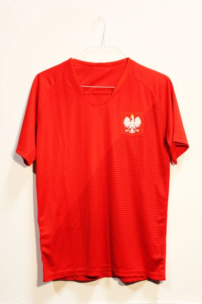 POLAND Red With EAGLE JERSEY Set : T-SHIRT & PANTS