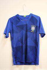 BRASIL Blue 5 Stars CBF Logo FIFA World Cup JERSEY Set : T-SHIRT & PANTS
