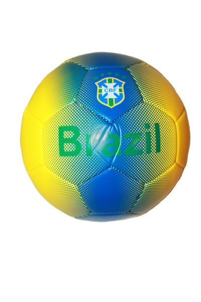 BRASIL YELLOW & BLUE CBF LOGO FIFA WORLD CUP SOCCER BALL SIZE 5 .. NEW AND IN A PACKAGE