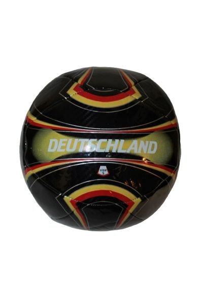 DEUTSCHLAND GERMANY BLACK WITH COLORED STRIPES FIFA WORLD CUP SOCCER BALL SIZE 5 .. NEW AND IN A PACKAGE
