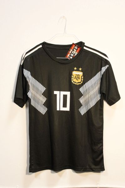 ARGENTINA Black 2 Stars, MESSI #10 AFA Logo FIFA World Cup JERSEY Set : T-SHIRT & PANTS
