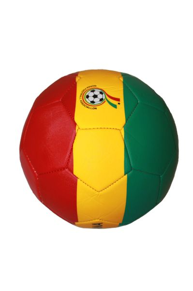 GHANA RED - YELLOW - GREEN FIFA WORLD CUP SOCCER BALL SIZE 5 .. NEW AND IN A PACKAGE