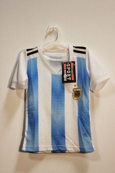 ARGENTINA Blue White 2 Stars , AFA Logo FIFA World Cup KID'S SET : JERSEY & PANTS ..2 - 4 Years
