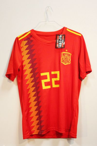 SPAIN One Star , ISCO #22 Country Flag Logo FIFA World Cup JERSEY Set : T-SHIRT & PANTS