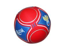 RUSSIA RED BLUE FIFA WORLD CUP SOCCER BALL SIZE 5 .. NEW AND IN A PACKAGE