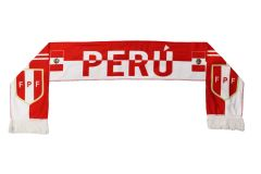 PERU Country Flag , FPF Logo FIFA World Cup WARM THIN CRASHED FLEECE SCARF
