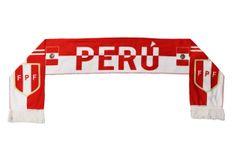 PERU Country Flag , FPF Logo FIFA World Cup WARM THIN CRASHED FLEECE SCARF