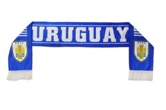 URUGUAY Country Flag 4 Stars , AUF Logo FIFA World Cup WARM THIN CRASHED FLEECE SCARF
