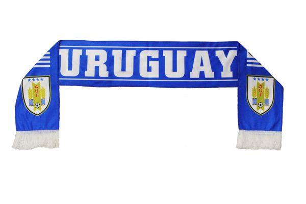URUGUAY Country Flag 4 Stars , AUF Logo FIFA World Cup WARM THIN CRASHED FLEECE SCARF