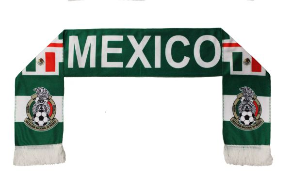 MEXICO Country Flag , Seleccion Nacional De Mexico Logo FIFA World Cup WARM THIN CRASHED FLEECE SCARF