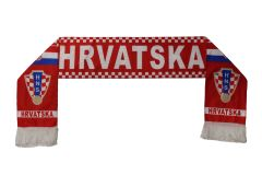 HRVATSKA CROATIA , HNS Logo FIFA World Cup WARM THIN CRASHED FLEECE SCARF