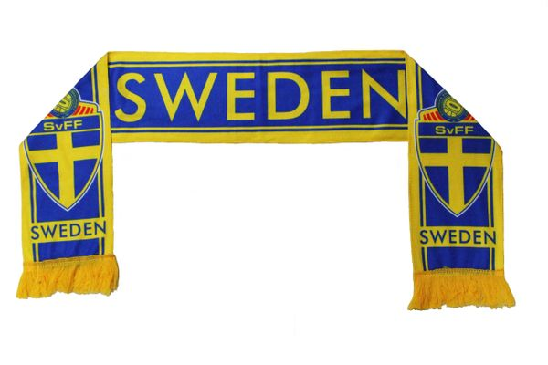 SWEDEN , SvFF Logo FIFA World Cup WARM THIN CRASHED FLEECE SCARF