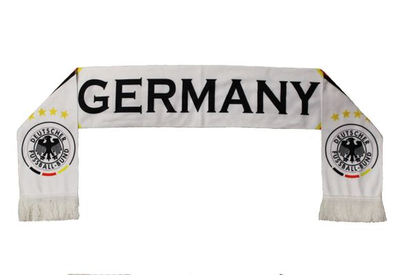 GERMANY 4 Stars , Deutscher Fussball - Bund Logo FIFA World Cup WARM THIN CRASHED FLEECE SCARF