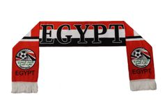 EGYPT Country Flag , Egyptian FA Logo FIFA World Cup WARM THIN CRASHED FLEECE SCARF