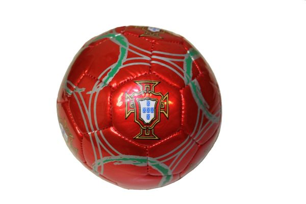 PORTUGAL RED FPF LOGO FIFA WORLD CUP SOCCER BALL SIZE 2 .. NEW AND IN A PACKAGE