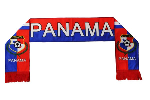 PANAMA Country Flag , FEPAFUT Logo FIFA World Cup WARM THIN CRASHED FLEECE SCARF