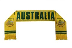 AUSTRALIA , AUSTRALIA FOOTBALL Logo FIFA World Cup WARM THIN CRASHED FLEECE SCARF