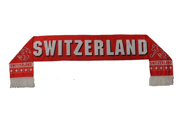 SWITZERLAND , SWITZERLAND Logo FIFA World Cup WARM THIN CRUSHED FLEECE SCARF