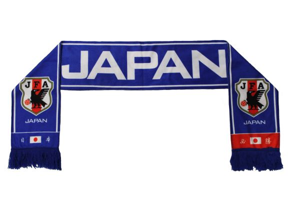 JAPAN , JFA Logo FIFA World Cup WARM THIN CRUSHED FLEECE SCARFJAPAN , JFA Logo FIFA World Cup WARM THIN CRUSHED FLEECE SCARF