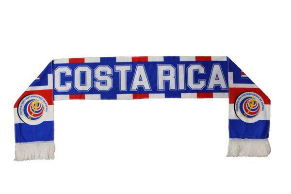 COSTA RICA , Federacion Costarricense de Futbol Logo FIFA World Cup WARM THIN CRUSHED FLEECE SCARF