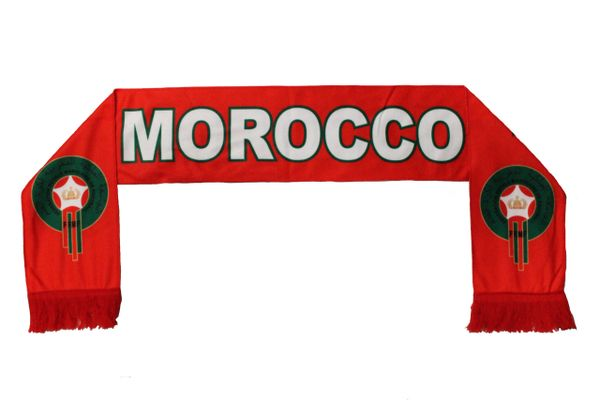 MOROCCO , FRMF Logo FIFA World Cup WARM THIN CRUSHED FLEECE SCARF