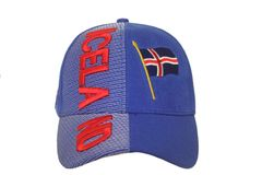 ICELAND Blue Country Flag EMBOSSED HAT CAP