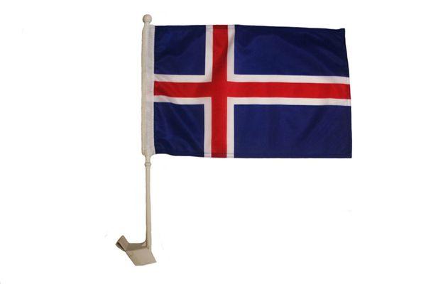 """ICELAND Country CAR HEAVY DUTY FLAG 12"""" X 18"""" INCH"""
