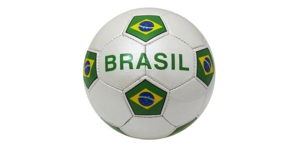 BRASIL WHITE COUNTRY FLAG FIFA WORLD CUP SOCCER BALL SIZE 5 .. NEW AND IN A PACKAGE